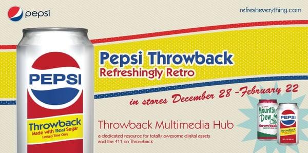 Pepsi Throwback 'Refreshingly Retro'