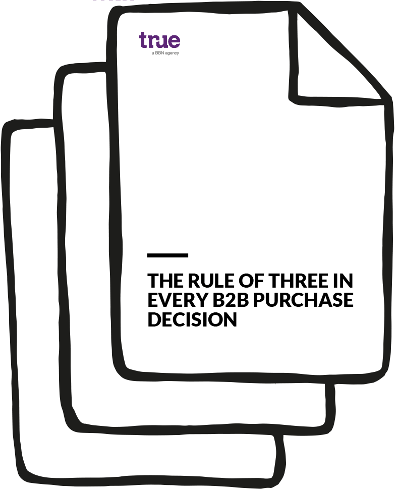 The rule of three in every B2B purchase decision